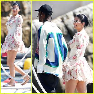 Kylie Jenner & Travis Scott Jump Off Their Yacht in Italy!