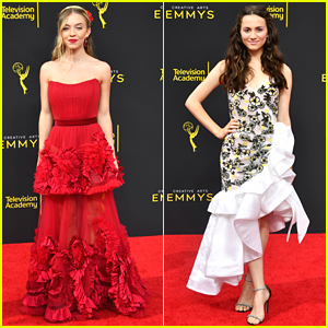 Euphoria's Sydney Sweeney & Maude Apatow Present Together At Creative Arts Emmys 2019