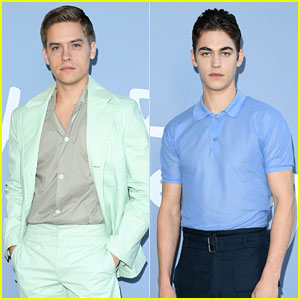 Dylan Sprouse & Hero Fiennes Tiffin Bring Pops of Color to Ferragamo Show!