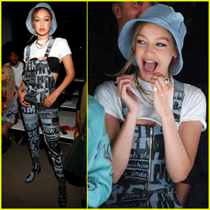 Gigi Hadid Shows Her Style at Jeremy Scott Show During NYFW