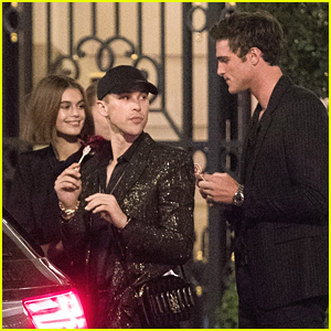 Jacob Elordi Hangs With Kaia Gerber & Tommy Dorfman After Saint Laurent Fashion Show
