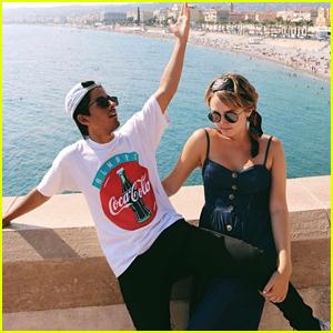 Karan Brar & Sophie Reynolds Take In The Sights of Europe With Friends