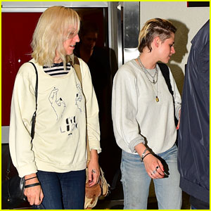 Kristen Stewart Arrives Back in L.A. with Girlfriend Dylan Meyer By Her Side