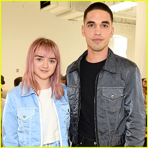 Maisie Williams & Reuben Selby Couple Up for Helmut Lang Fashion Show
