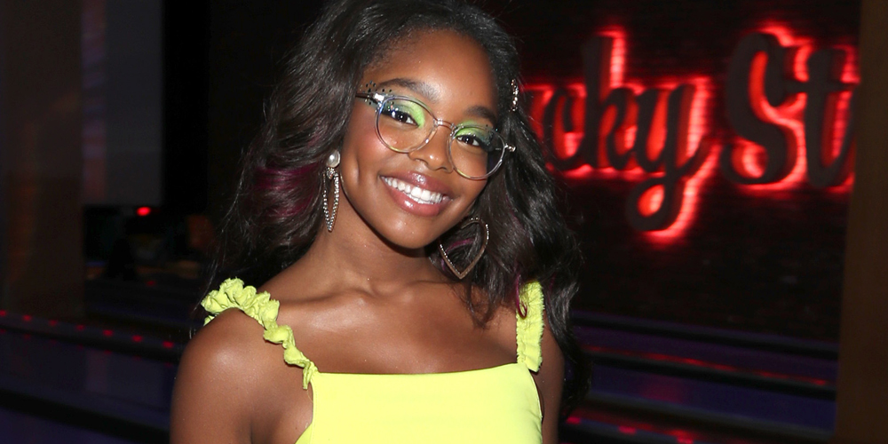 Marsai Martin Rocks Two Neon Dresses For Her 15th Birthday Party