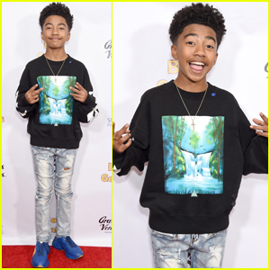 Miles Brown Brings His Family to the Premiere of 'Boy Genius'