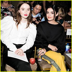 Lucy Hale & Kaitlyn Dever Sit Front Row for Oscar de la Renta Show!