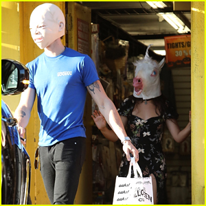 Shawn Mendes & Camila Cabello Buy Halloween Masks!