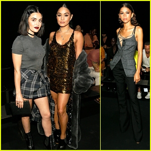 Vanessa Hudgens & Lucy Hale Join Zendaya on Front Row at Vera Wang Fashion Show