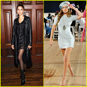 Zendaya Supports Gigi Hadid at Marc Jacobs' Fashion Show