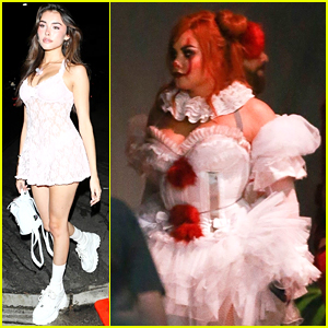Demi Lovato Hosts Halloween Party As Pennywise The Clown