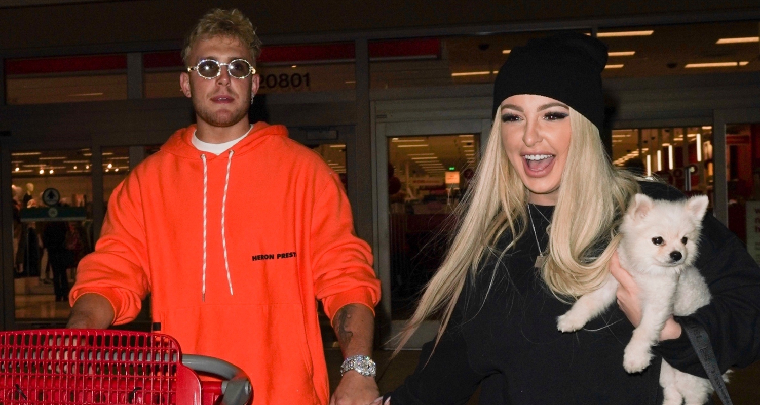 Jake Paul & Tana Mongeau Couple Up For Shopping Trip to Target