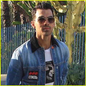 Joe Jonas Heads To Dodgers Game & Runs Into Diplo!