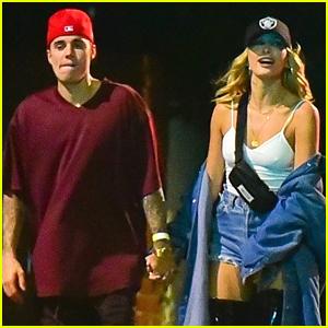 Justin & Hailey Bieber Celebrate a Birthday In Beverly Hills