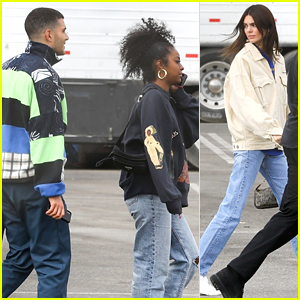 Kendall Jenner Joins Friends Fai Khadra & Justine Skye at Sunday Service