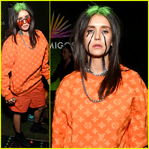 Nina Dobrev Perfectly Channels Billie Eilish for Halloween Costume!
