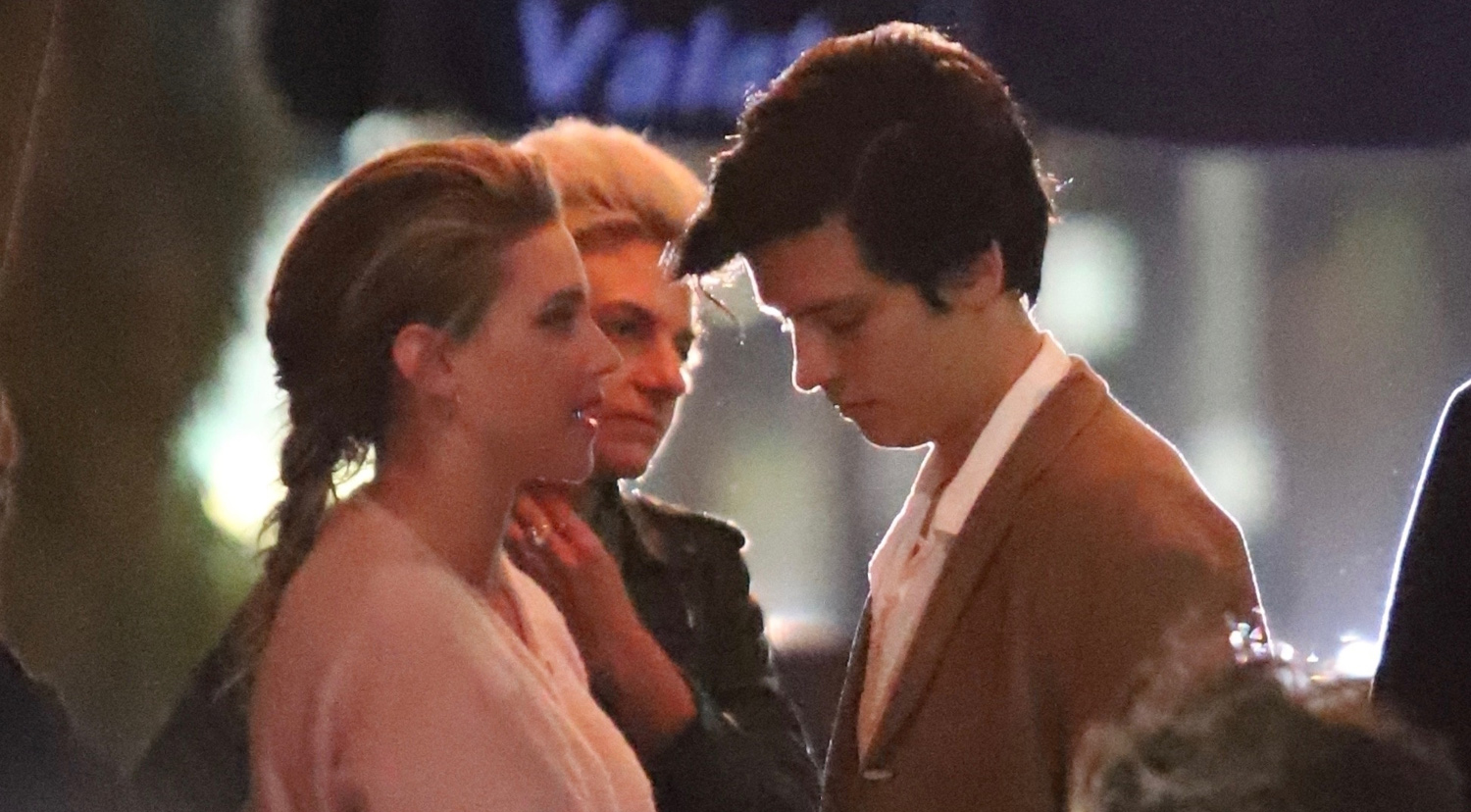 Lili Reinhart & Cole Sprouse Show Sweet PDA at Dinner!