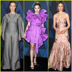 'Little Women' Stars Saoirse Ronan & Florence Pugh Step Out For Governors Awards 2019