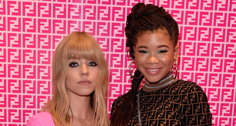 'Euphoria Co-Stars Storm Reid & Sydney Sweeney Meet Up at Fendi Prints On Debut