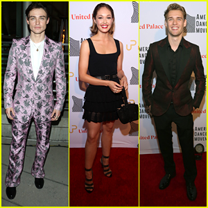 Thomas Doherty Rocks Pink Suit For 'High Strung Free Dance' Premiere in LA