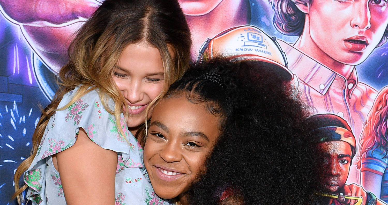 Millie Bobbie Brown & Priah Ferguson Hug It Out at 'Stranger Things' Season 3 Screening in NYC