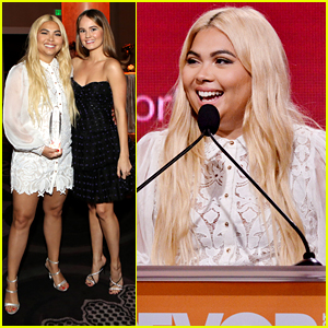 Debby Ryan Presents Hayley Kiyoko With Youth Innovator Award at TrevorLIVE 2019