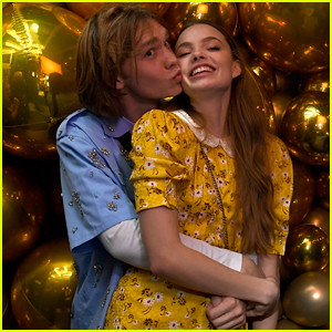 Charlie Plummer Gives Kristine Froseth a Kiss at Pre-Golden Globes Party