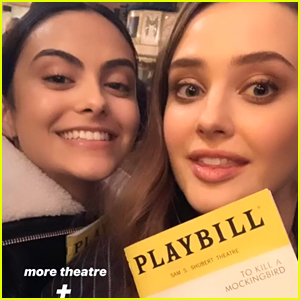 Katherine Langford Watches 'Love, Simon' Co-Star Nick Robinson In 'To Kill a Mockingbird' On Broadway With Camila Mendes