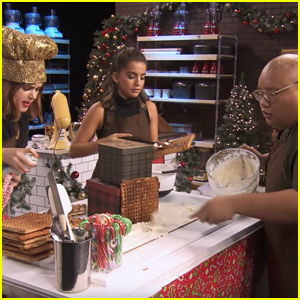 Let It Snow's Kiernan Shipka, Isabela Merced & Jacob Batalon Try To Make A Gingerbread House on 'Sleighed It!'