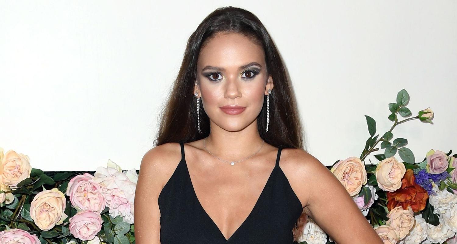 Madison Pettis Straightens Her Curly Hair For #REVOLVEawards 2019