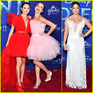 Vanessa & Veronica Merrell Coordinate Their Looks For 'Frozen 2' Premiere