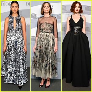 Nina Dobrev Twirls Around in Her Dress For Guggenheim International Gala Night #2