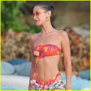 Bella Hadid Hits the Beach with Friends in St. Barts!