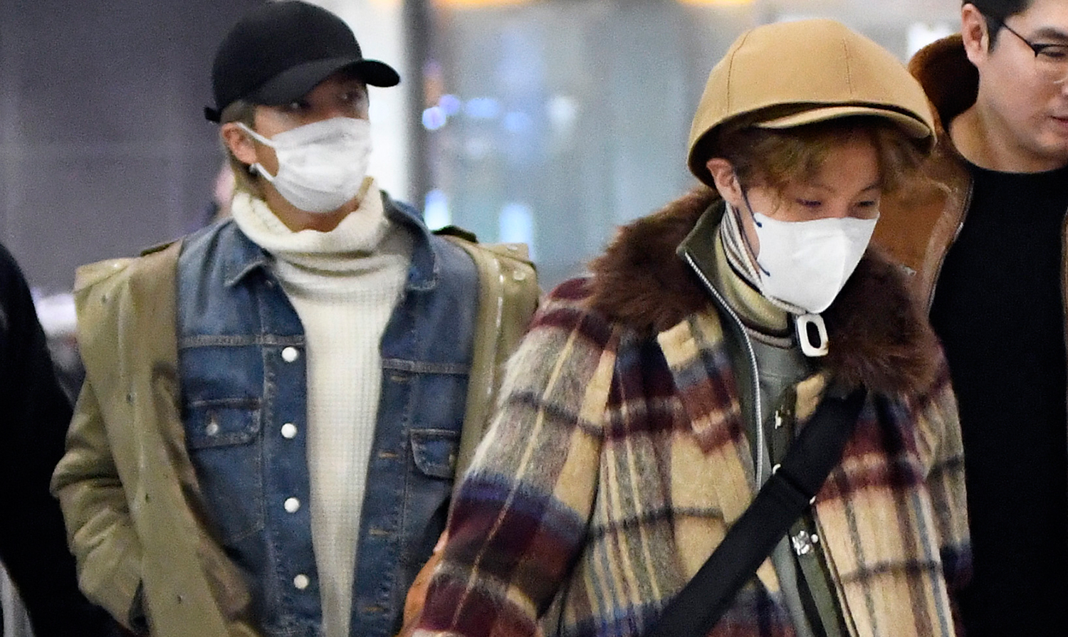 BTS Members Show Off Cool Airport Style in NYC!