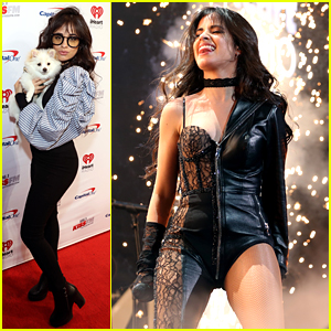 Camila Cabello Cuddles Her Cute Pup at Dallas Jingle Ball Tour Stop