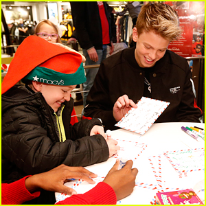 Carson Lueders Spends Time With Fans After Performing at Macy's National Believe Day Event