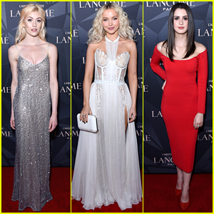 Katherine McNamara Channels Her Inner Elsa at Lancome x Vogue Event