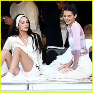 Kendall Jenner & Bella Hadid Go On a Boat Cruise in Miami