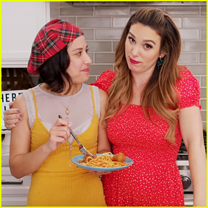 Lizzie McGuire's Lalaine & Even Stevens' Christy Carlson Romano Get Nostalgic & Make Spaghetti (Video)