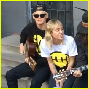 Miley Cyrus & Boyfriend Cody Simpson Sing 'Old Time Town' - Watch!