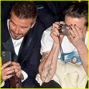 Brooklyn Beckham Snaps Pics With Dad David at Dior Homme Show in Paris