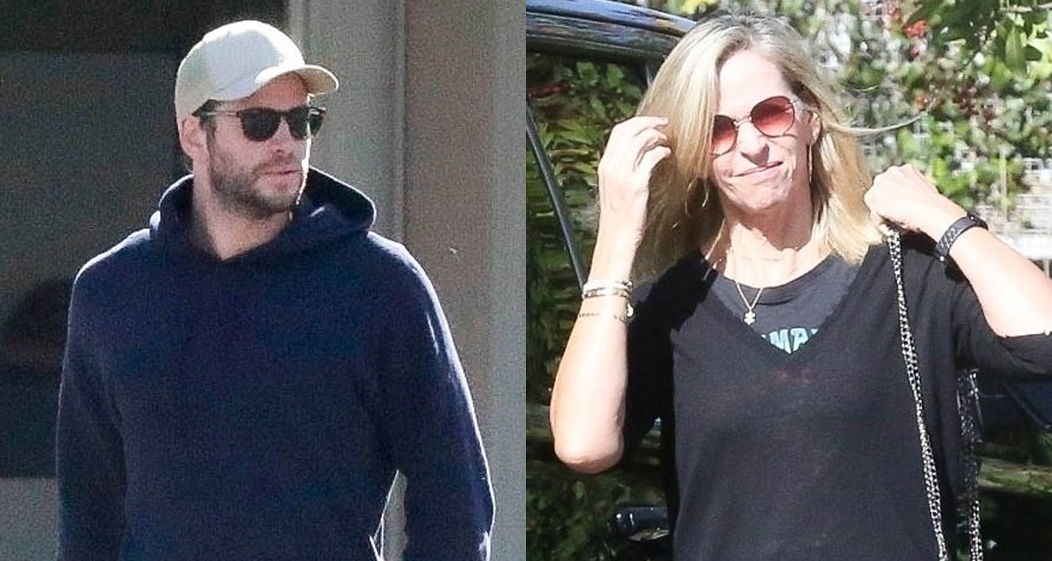 Liam Hemsworth Spends Some More Quality Time With His Mom