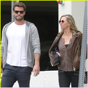 Liam Hemsworth Treats His Mom Leonie To Lunch in Santa Monica