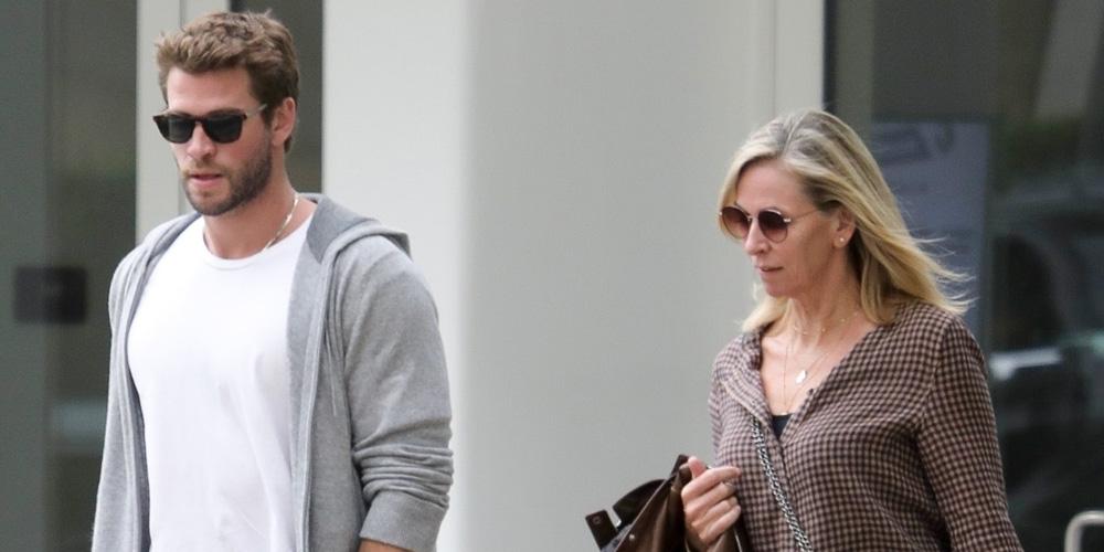 Liam Hemsworth Treats His Mom Leonie To Lunch in Santa Monica