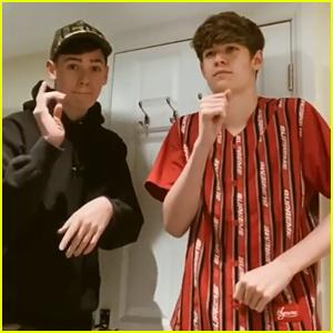 Max & Harvey Sing & Dance in Their Bathroom for Eminem & Juice WRLD 'Godzilla' Cover (Video)