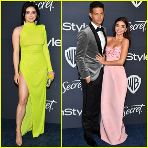 Sarah Hyland & Ariel Winter Show Their Style at Golden Globes After Parties!
