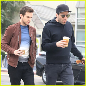 Brandon Flynn Joins Actor Zachary Quinto for a Dog Walk
