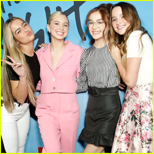 Annie LeBlanc & Pals Addison Easterling, Lilia Buckingham & Anna Cathcart Attend 'All The Bright Places' Premiere