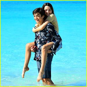 Asher Angel & Annie LeBlanc Looked So Cute On Their Anniversary Trip To Turks & Caicos!
