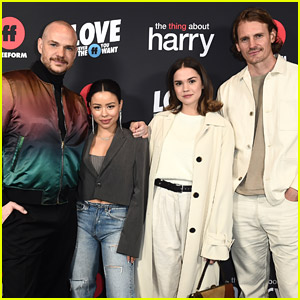 Cierra Ramirez, Maia Mitchell & 'Good Trouble' Cast Support EP Peter Paige at 'The Thing About Harry' Premiere